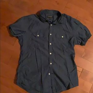 Blue Express short sleeve dress shirt
